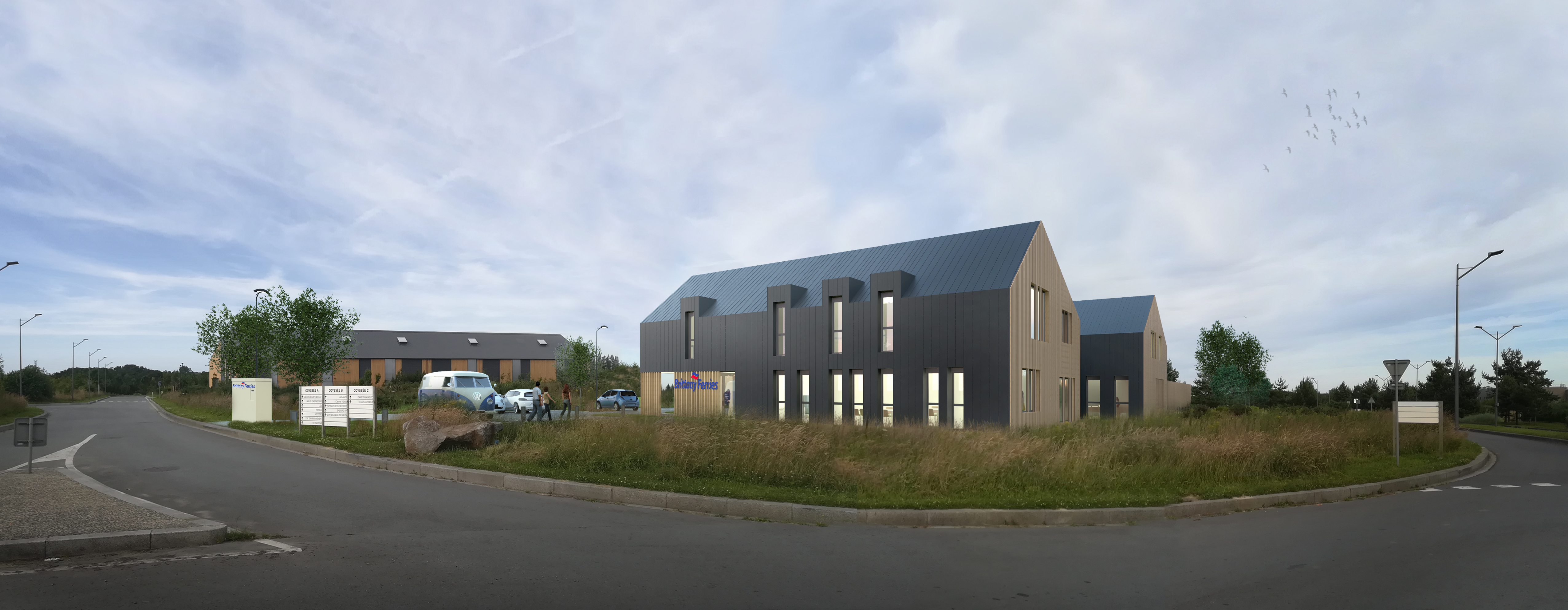 Planing, filiale du Groupe Concept-Ty, installe la nouvelle antenne de Brittany Ferries<