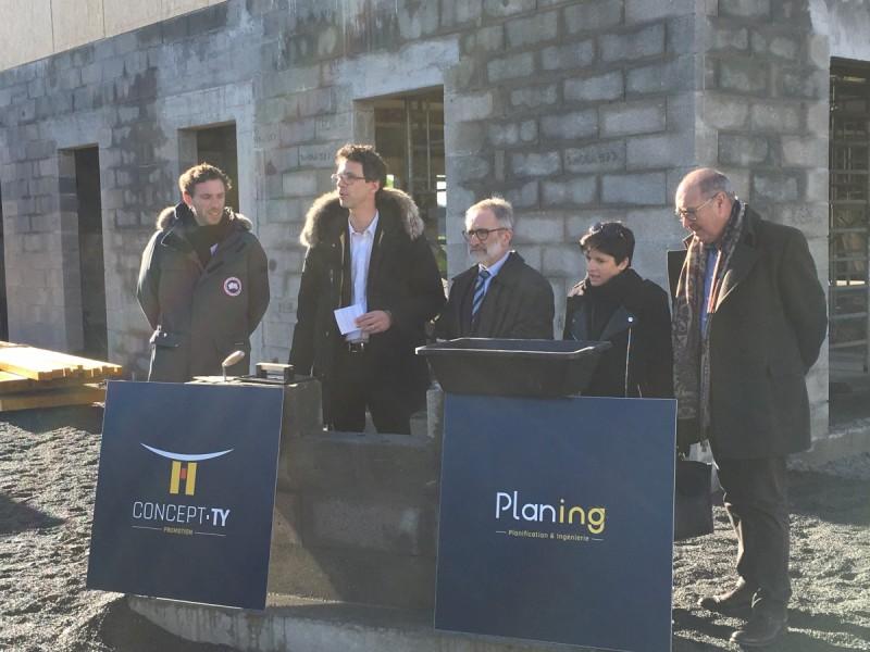 Les Sorinières : le Groupe Concept-Ty pose la première pierre du village d&rsquo;entreprises Activity<